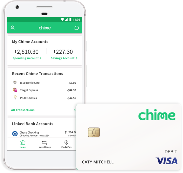 Chime Bank | When you bank with Chime, you get a Chime Visa® Debit