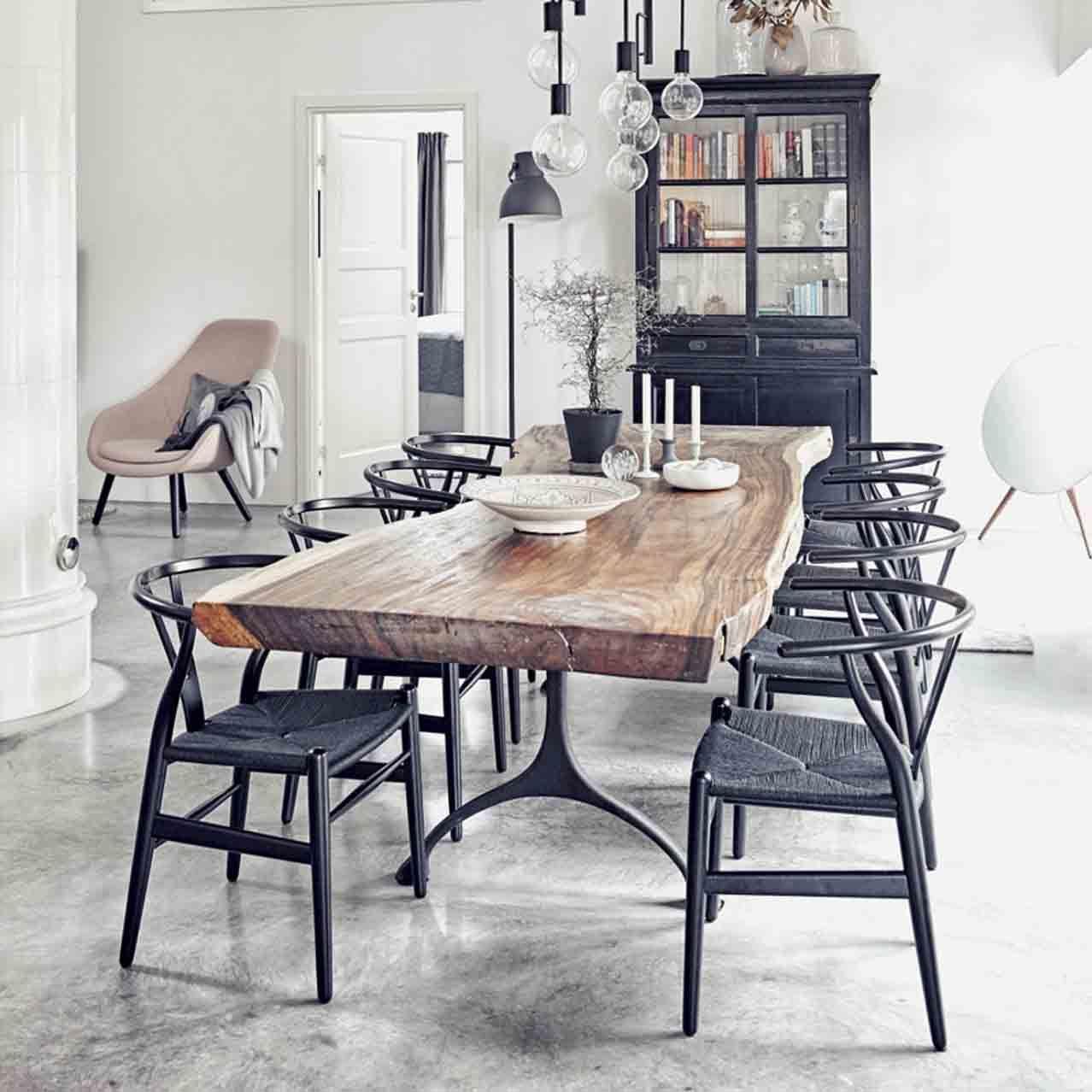 Ch24 wishbone chair black edition in 2020 black dining