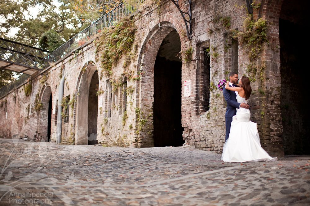 Anna And Spencer Photography Savannah River Street Wedding Day After Session Portrait Of