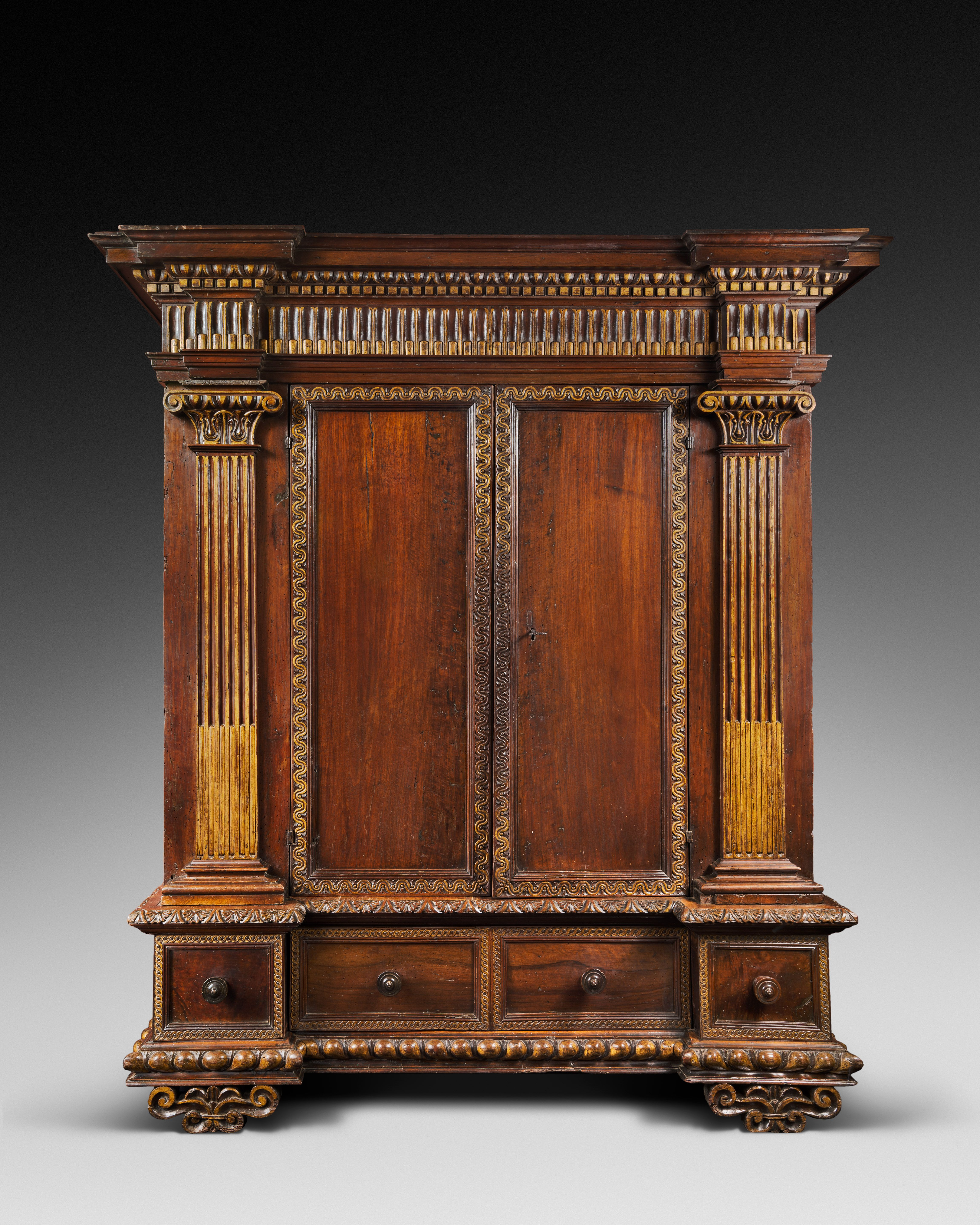 Armoire De Palais Italie Toscane Fin Du 16e Debut Du 17e Siecle Mobilier De Luxe Meuble Baroque Renaissance Italienne