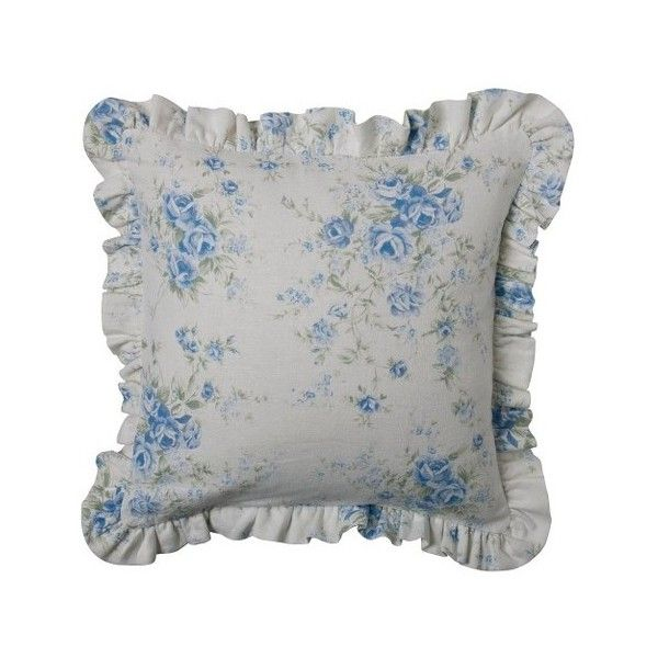 50 Cool And Creative Shabby Chic Dining Rooms: Floral Print British Rose Throw Pillow Slipcover ($20