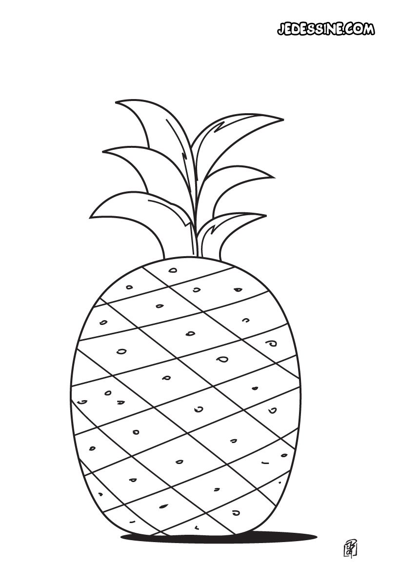 Coloriage d 39 un ananas growing tree coloring pages - Ananas dessin ...