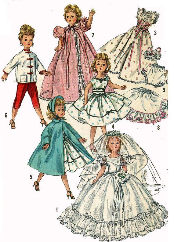 "Sweet Sue Miss Revlon Vintage Doll Play Clothes Pattern ~ 20/"" 21/"" Toni Cissy"