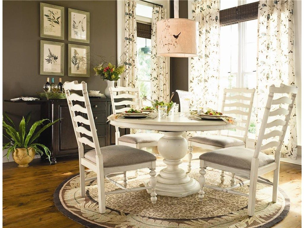 Paula Deen By Universal Home 996655 Round Pedestal Table Baer S Furniture Dining Round Pedestal Dining Table Dining Table In Kitchen Round Pedestal Dining