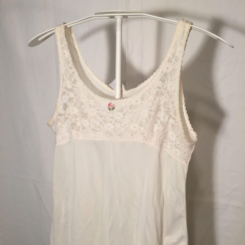 Vintage Girls 10 Medium Lace Accent Trim Slip Night Gown Nightgown ...