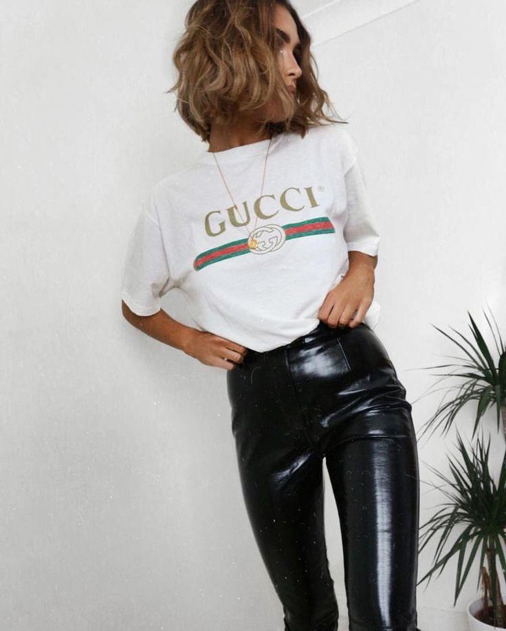 46a8656b0c3b3 pinterest  bellaxlovee ✧☾ Gucci Shirt Women