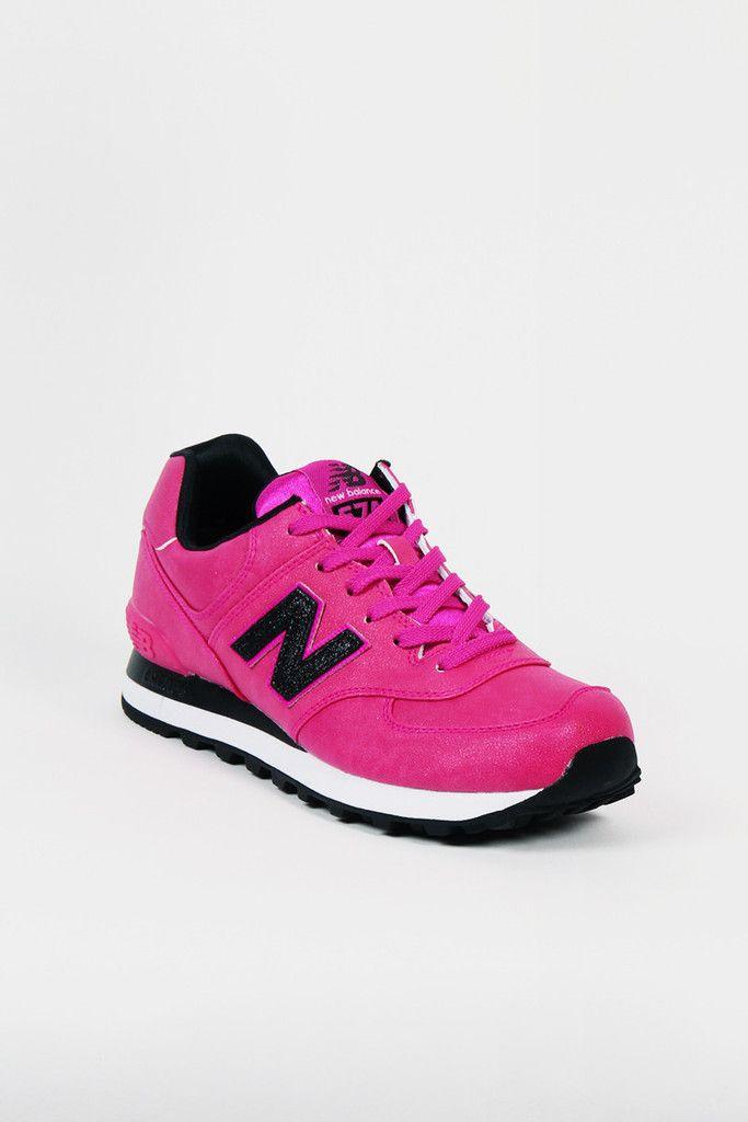 new balance 574 pink black nz
