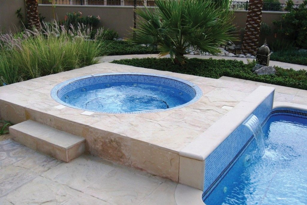 For A New Home In Ground Hot Tub Cost : Signature Mosaic Tiled In ...