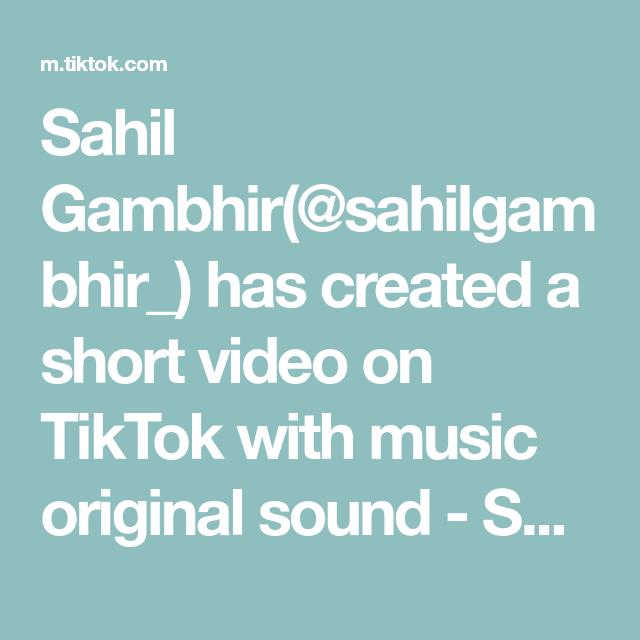 Sahil Gambhir Sahilgambhir Has Created A Short Video On Tiktok With Music Original Sound Sahil Gambhi The Originals Bts Make It Right Mexican Food Recipes