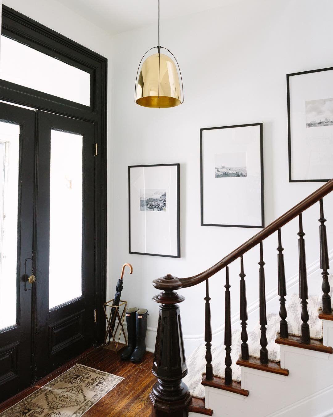 industrial inspired lighting. Industrial Inspired Lighting. Brass And Black Pendant. Chicago Apartment. Style. Alaina Kaczmarski Home Tour. Lighting G