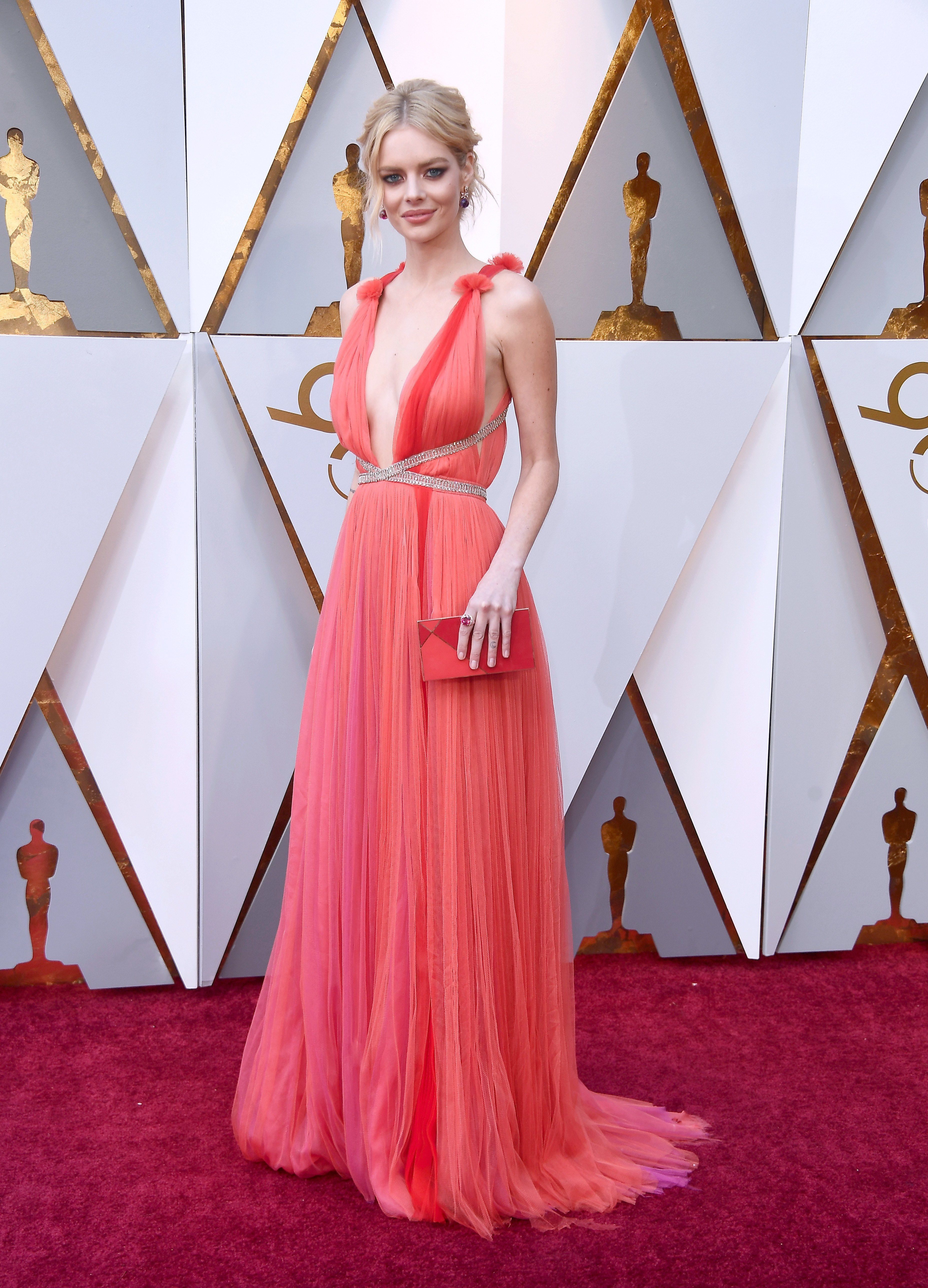 c2de248b7c Oscars 2018  The Story of Saoirse Ronan s Calvin Klein By Appointment Red  Carpet Dress