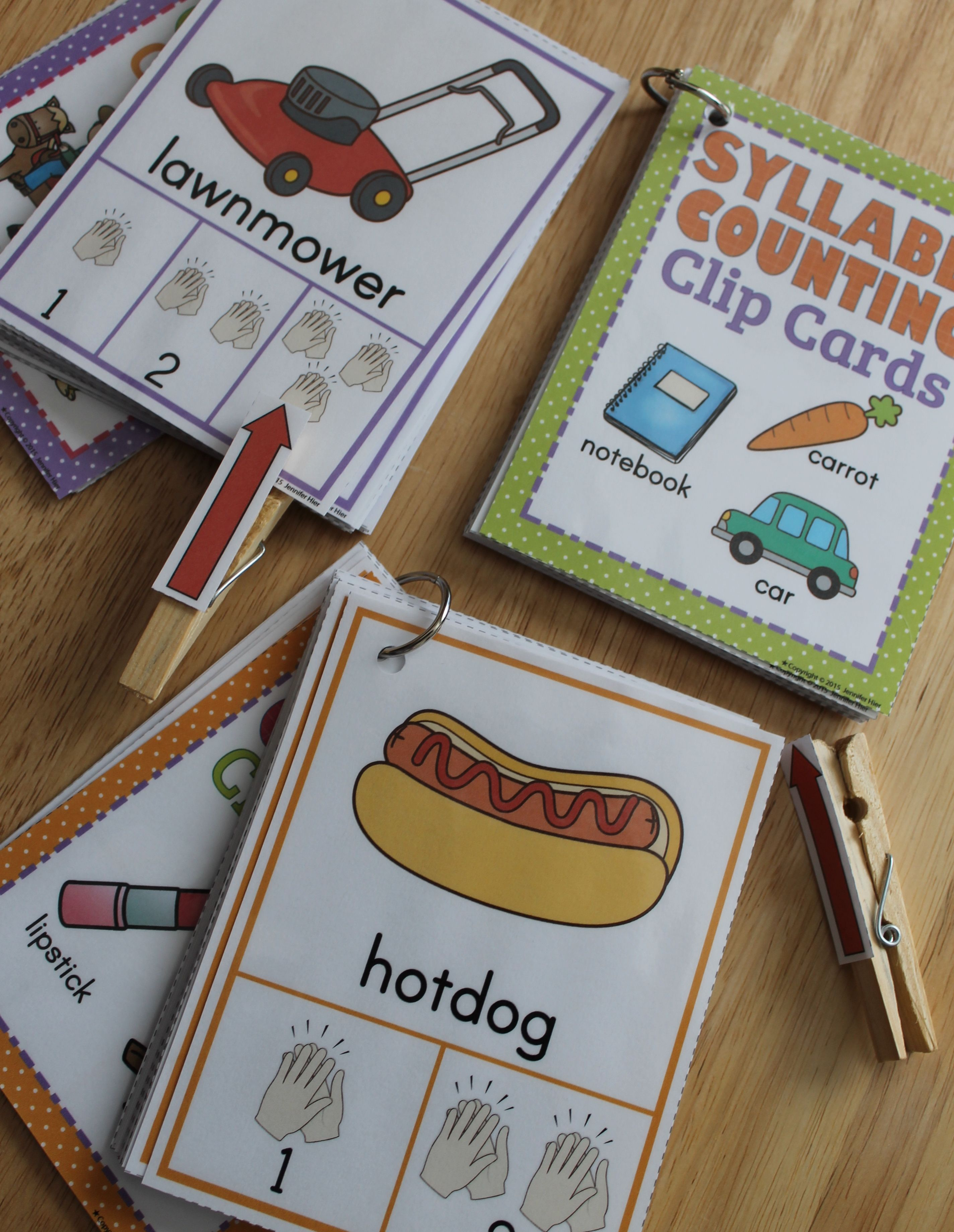 Kids Can Count And Clap The Syllables With Syllable Counting Clip Cards