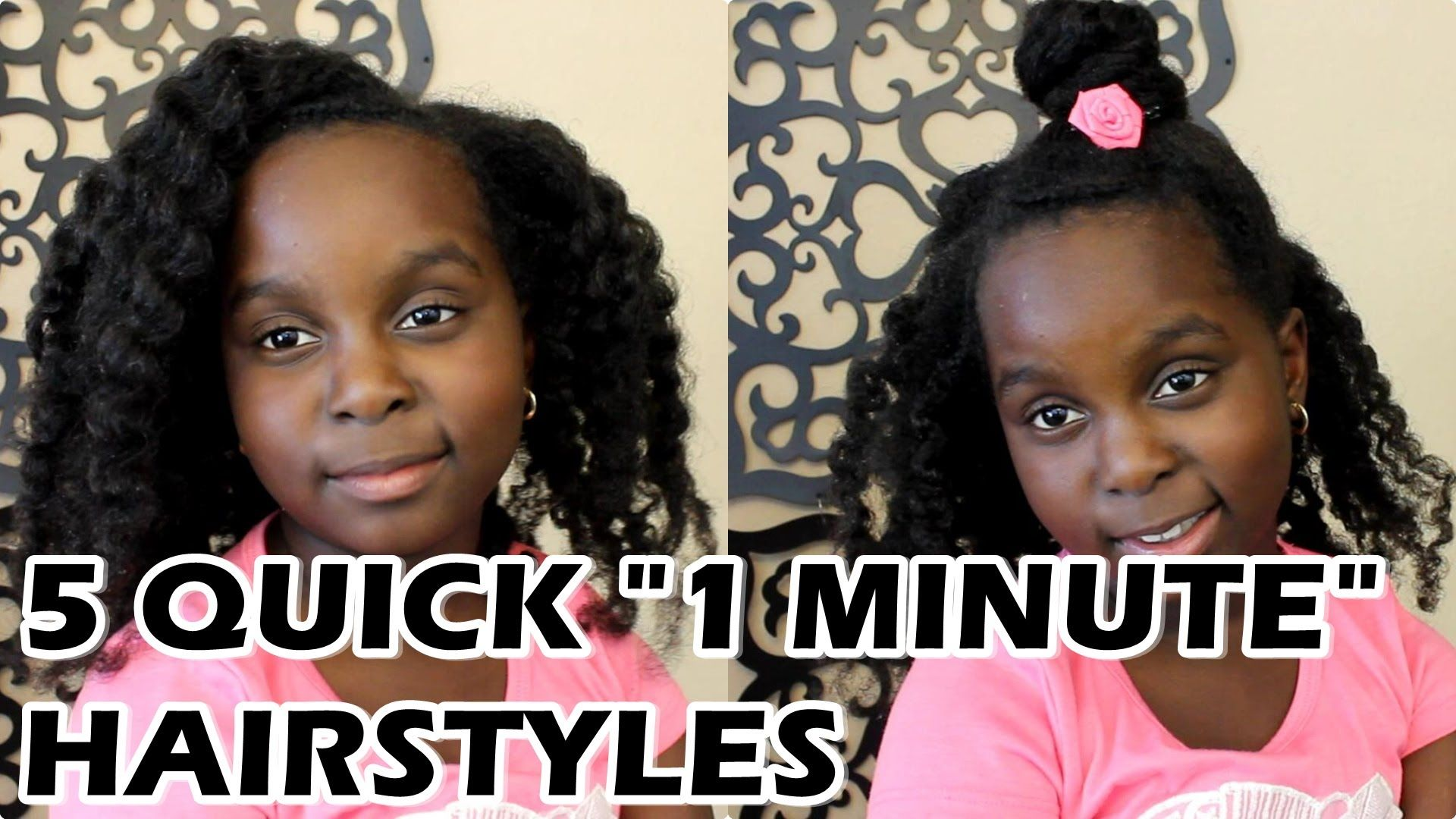 5 Super Easy 1 Minute Natural Hair Hairstyles By Lil Sis Youtube