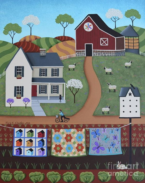 Seasons Of Rural Life - Spring Print by Mary Charles. All prints are professionally printed, packaged, and shipped within 3 - 4 business days. Choose from multiple sizes and hundreds of frame and mat options.