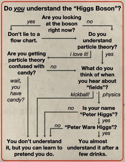Do You Understand Higgs Boson? A Helpful Flowchart Higgs boson - what is a flowchart