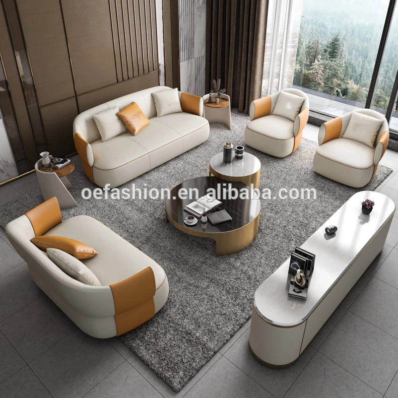 Oe Fashion Modern Home Furniture Couch Living Room Upholstered Sofa Set Leather Cushion Armrest Sofa View Living Room Sofas Oe Fashion Product Details From Fo In 2020 Couch Furniture Modern Home Furniture Couches