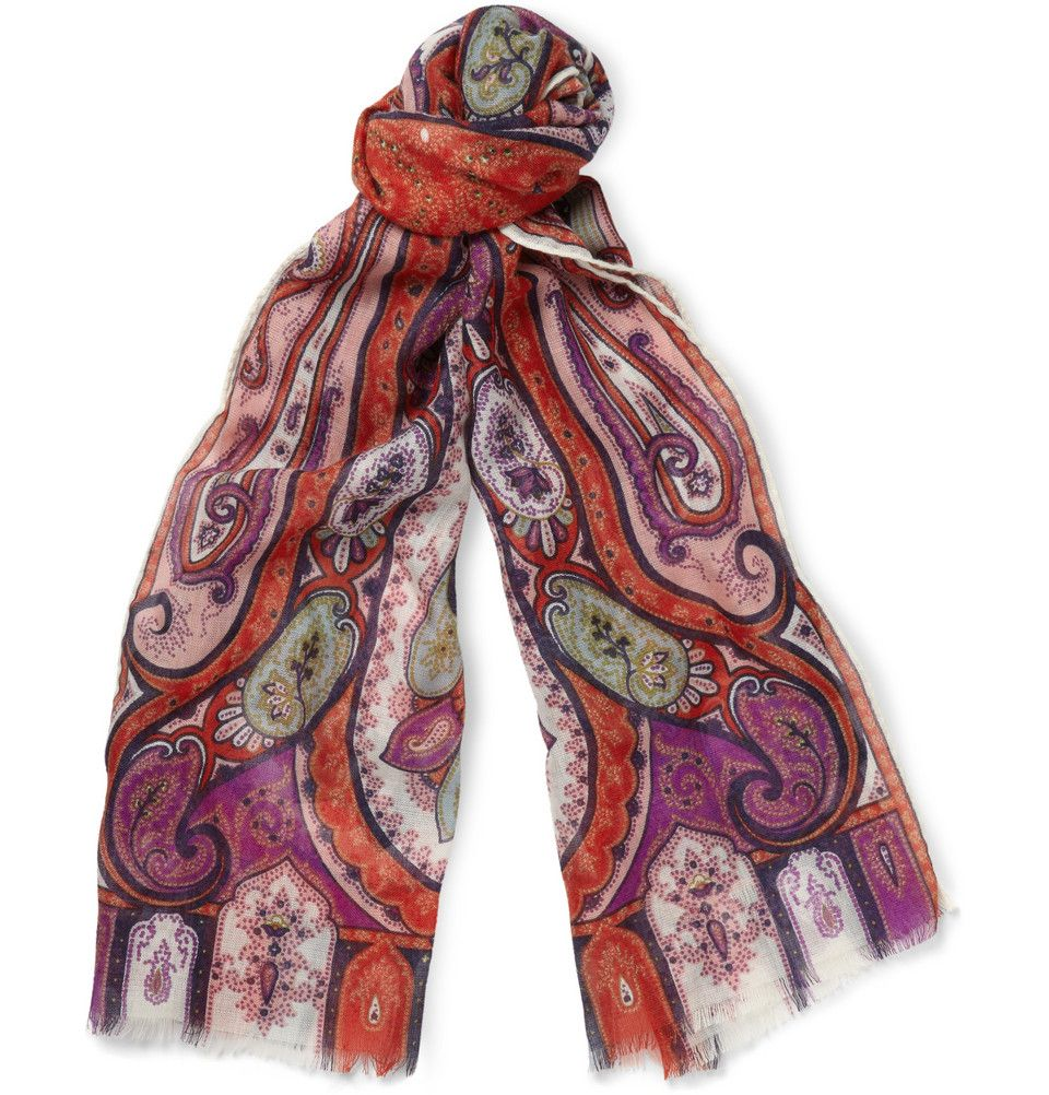 Etro - Paisley-Print Cashmere and Silk-Blend Scarf | MR PORTER