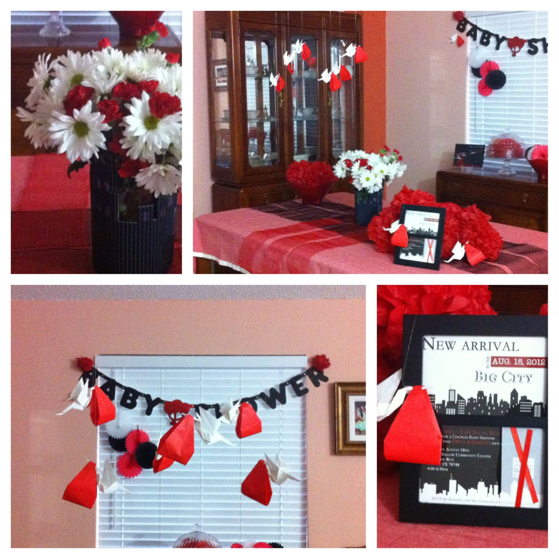 Red Black Baby Shower Weddings And Events In 2018 Pinterest