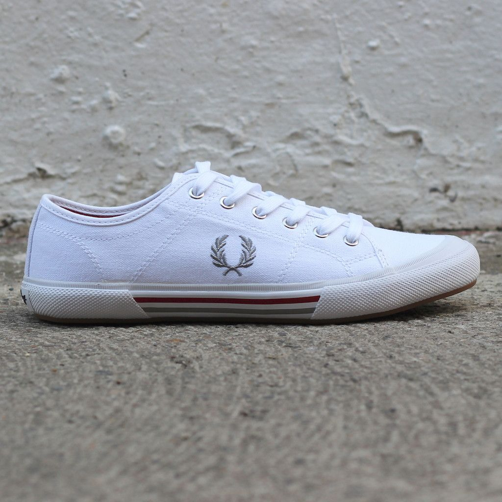 90ea106d79d57 Fred Perry Vintage Tennis Canvas (White) from new-entry clothing company.   fredperry  plimsoll  shoes  new-entry