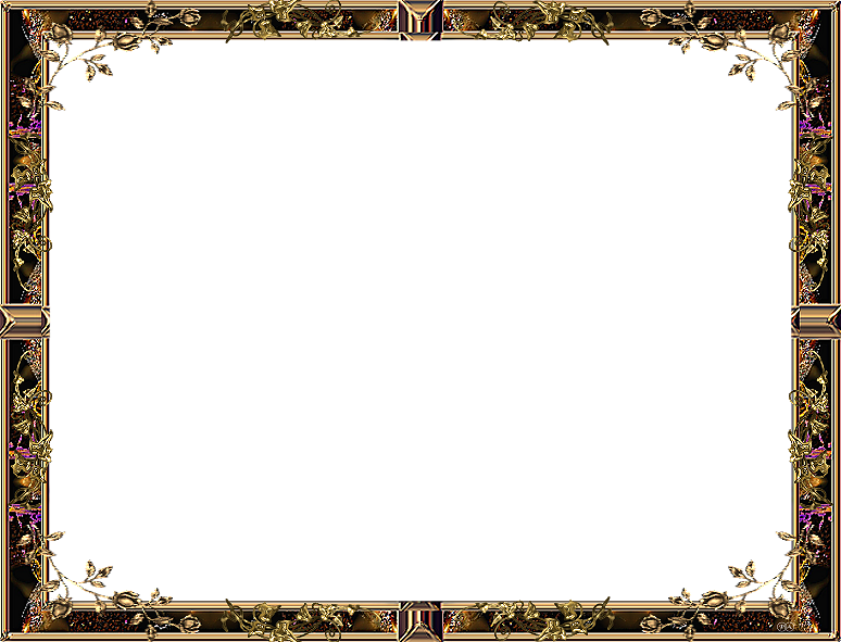 Gold Yellow047 Png 774 591 Picture Frame Art Flower Frame Png Clip Art Frames Borders