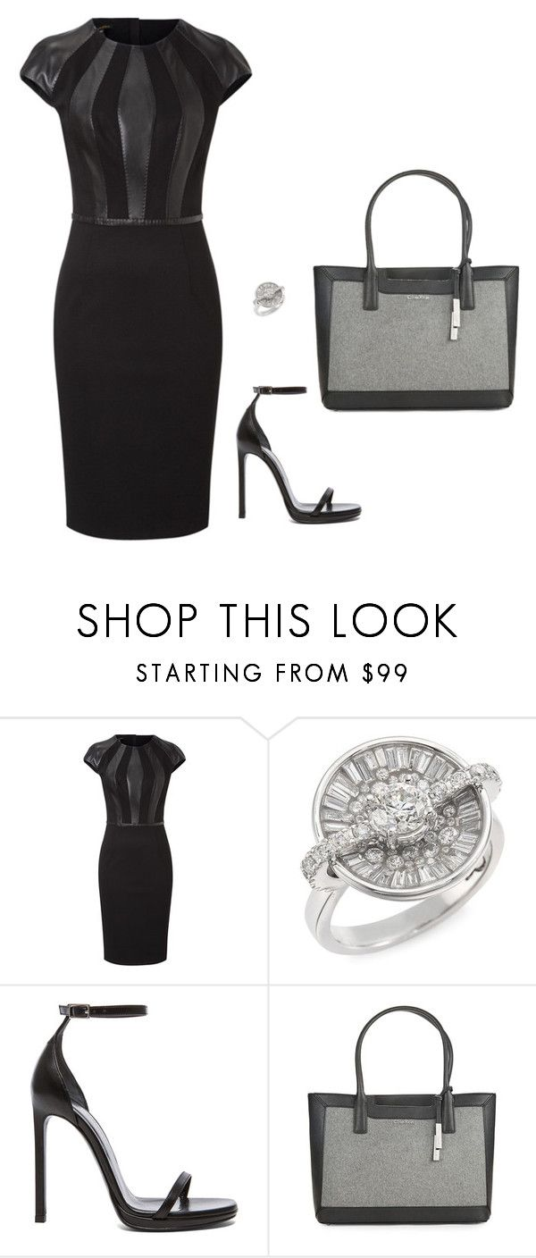 """Sem título #1475"" by mprocedi ❤ liked on Polyvore featuring ESCADA, Plevé, Yves Saint Laurent and Calvin Klein"