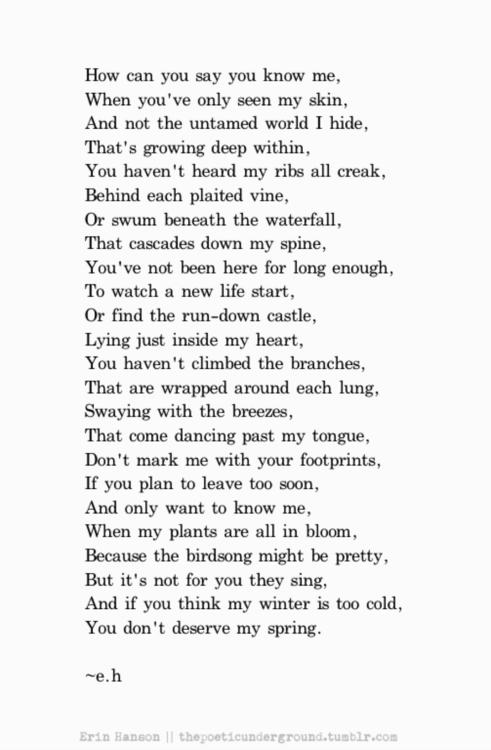 Poetry – C'est la vie