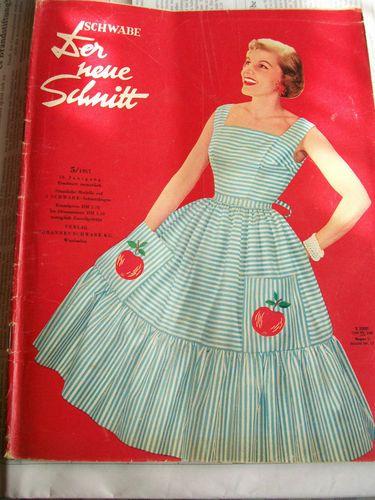alte Modezeitschrift Schwabe der Neue Schnitt 5 1957 mit ...