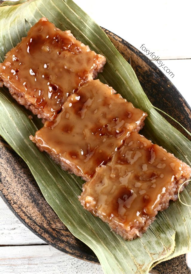 Biko Is A Native Filipino Delicacy Where Glutinous Rice Is Cooked With Coconut Milk And Brown Sugar Then Topped With Biko Recipe Recipes Filipino Food Dessert
