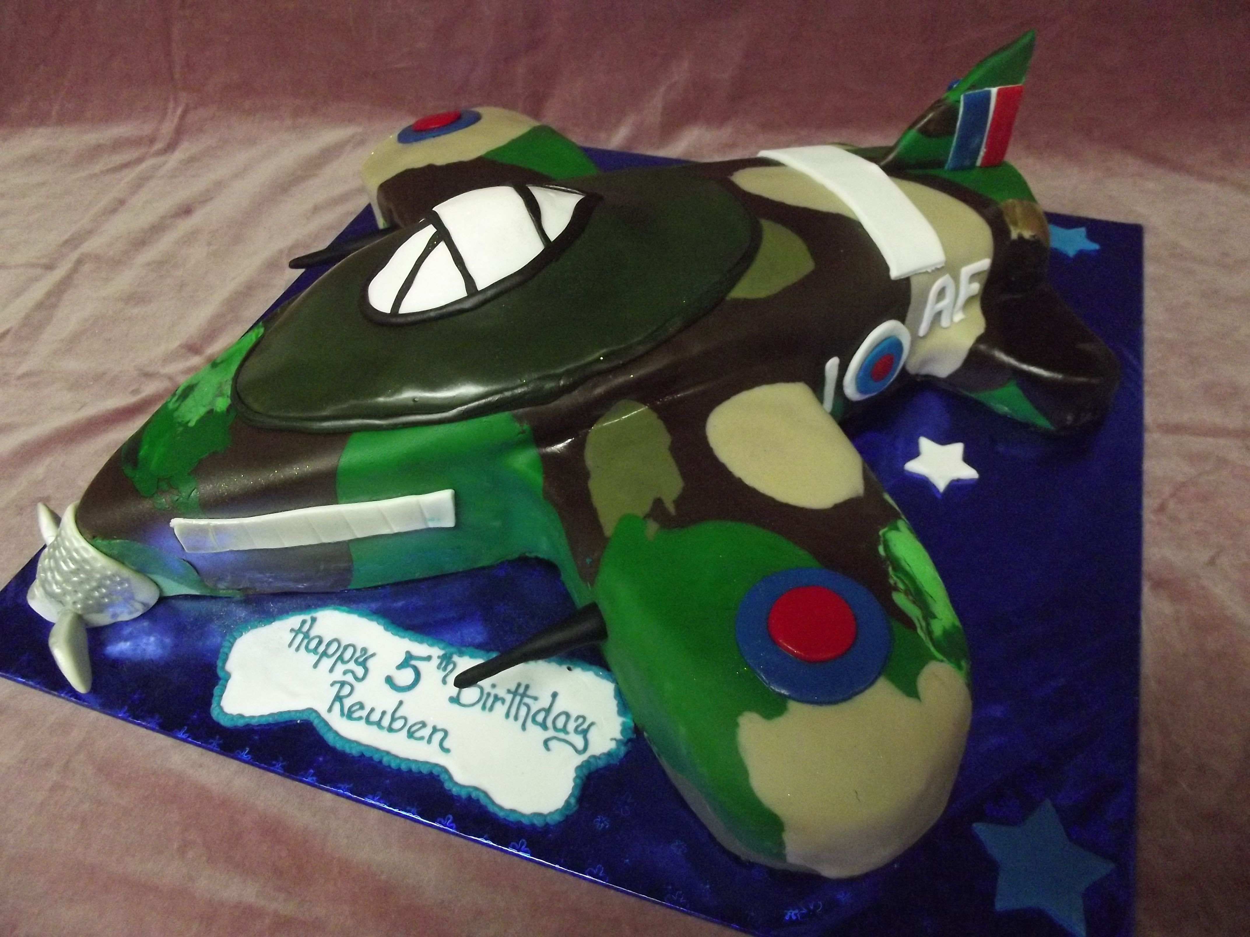 SPITFIRE AIRCRAFT THEMED BIRTHDAY CAKE Best Birthday Cakes