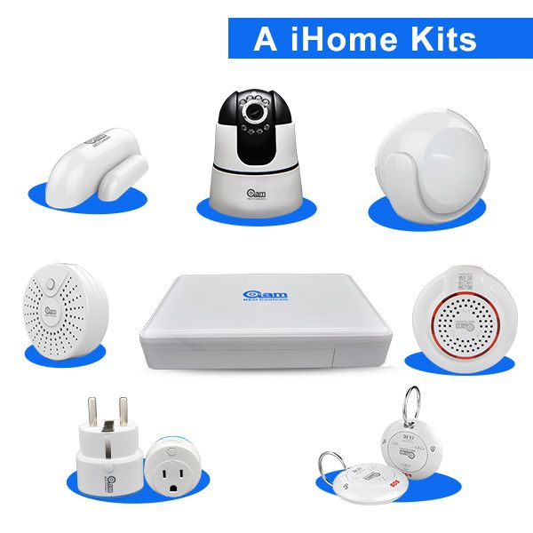 2017 Neo New Brand Smart Ihome Kit Home Automation Alarm System Wifi App Home Smart Security Security Gadgets Home Security Alarm System Wireless Alarm System