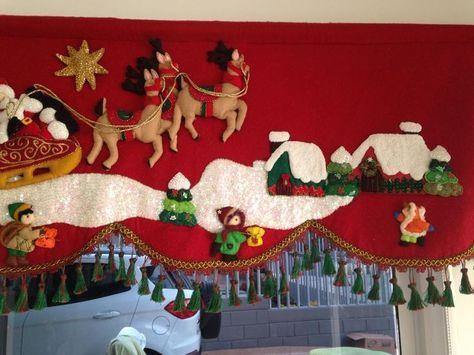 cortinas navideñas con luces - Buscar con Google Navidad fieltro