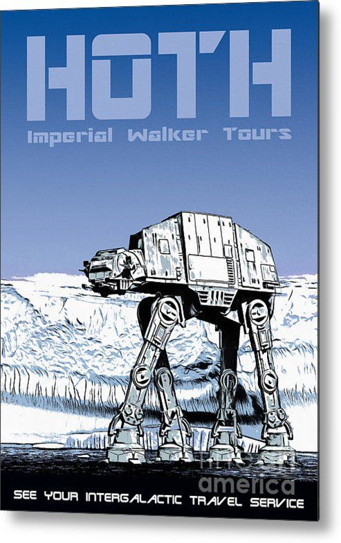 Vintage Hoth Star Wars Travel Poster Metal Print by Edward Fielding ...