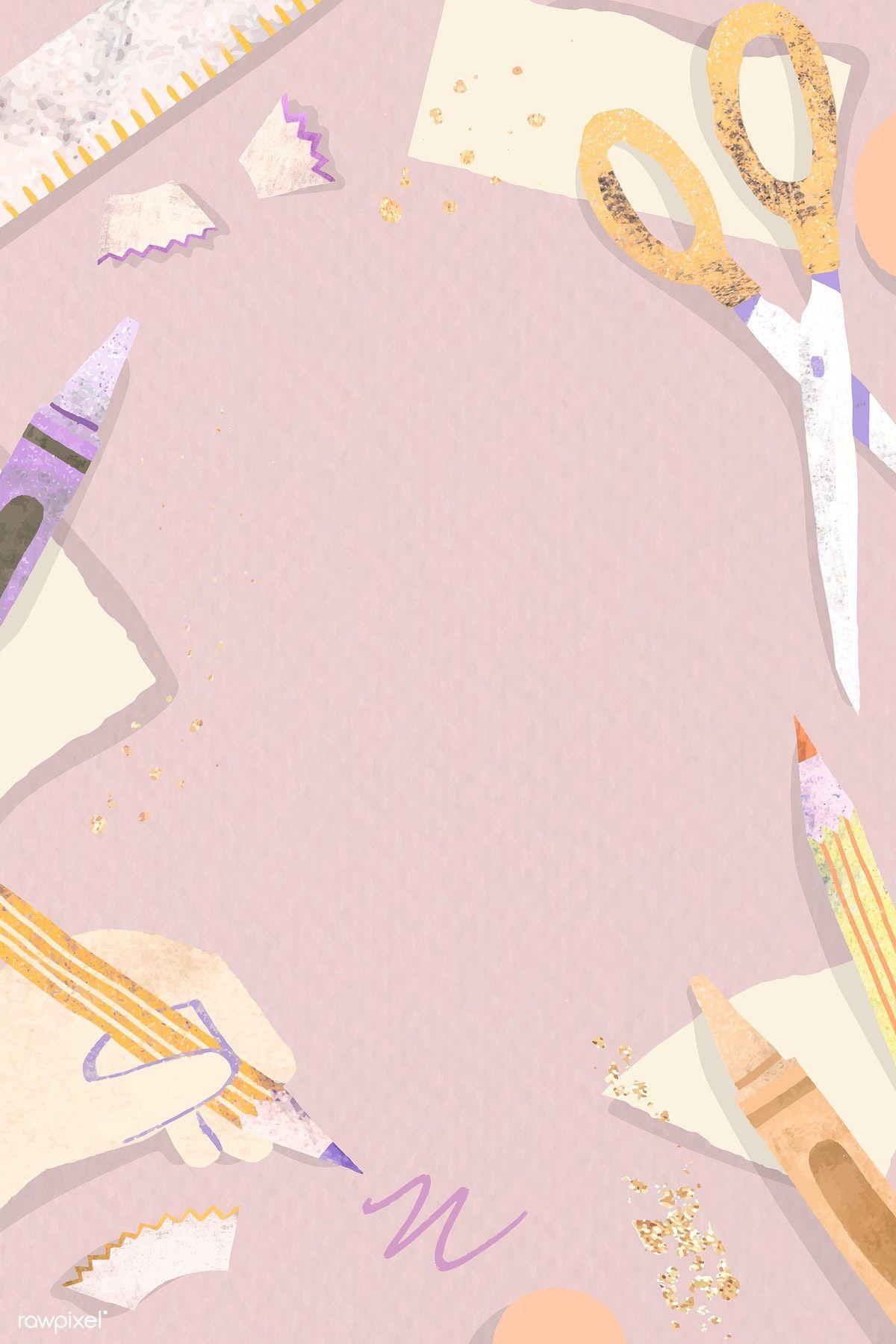 Download Premium Vector Of Blank Pink Back To School Vector 1224959 Powerpoint Background Design Poster Background Design School Illustration