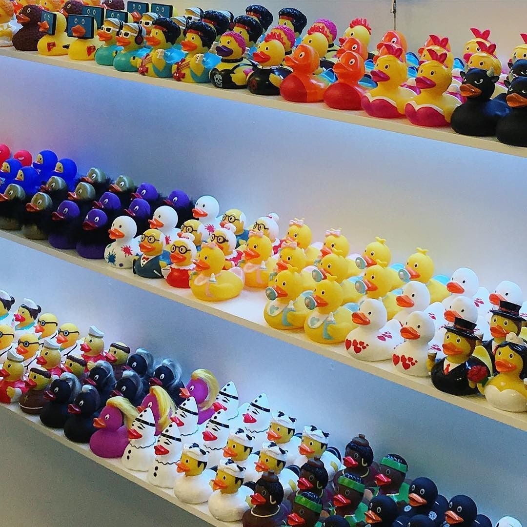 Went #shopping for some #rubber #duckies last night. #duckstore #barcelona by mpristim
