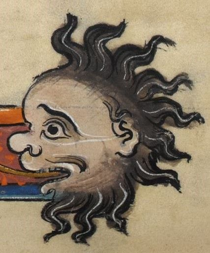 """Detail from """"The Rutland Psalter"""", medieval (c1260), British Library Add MS 62925. f 25r"""
