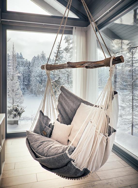 Hammock chair White/Gray