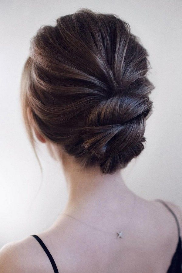 elegant updo low bun wedding hairstyle #weddings #weddingupdos #weddinghairstyle... Check mor...