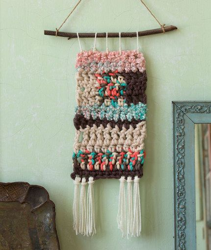 Retro Crochet Wall Hangings Free Crochet Pattern In Red