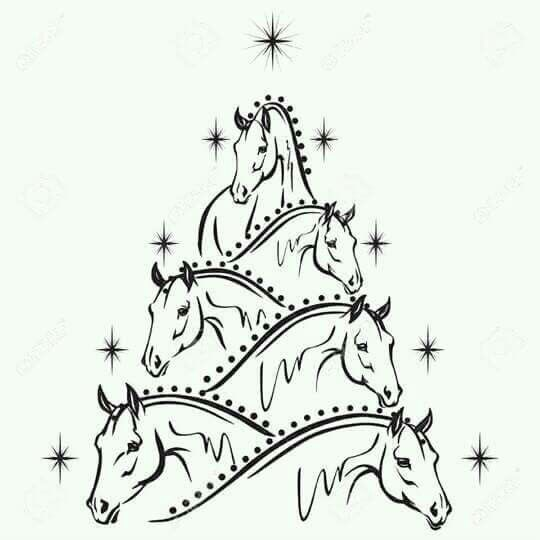 Horse Christmas tree | Horse pictures | Pinterest | Caballos y Navidad