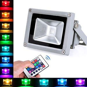 Rgb 10w Led Flood Light Ip65 Waterproof Spot Light Remote Control Garden Outdoor Fonte