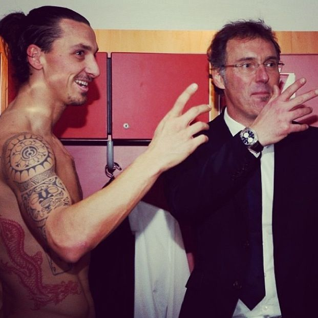 Zlatan Ibrahimovic and Laurent Blanc  PSG