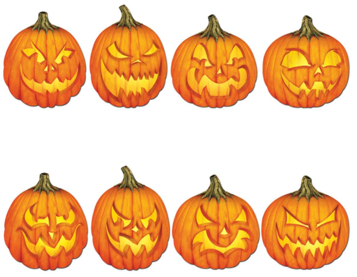 easy spooky jack o'lantern patterns | haunted halloween | pinterest