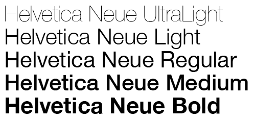 FONT – This is the font we intend to use, with various sizes