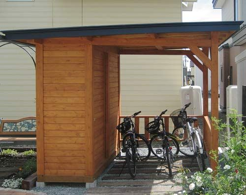 bike shelter storage area creating spaces outdoors pinterest abri v lo refuges et. Black Bedroom Furniture Sets. Home Design Ideas