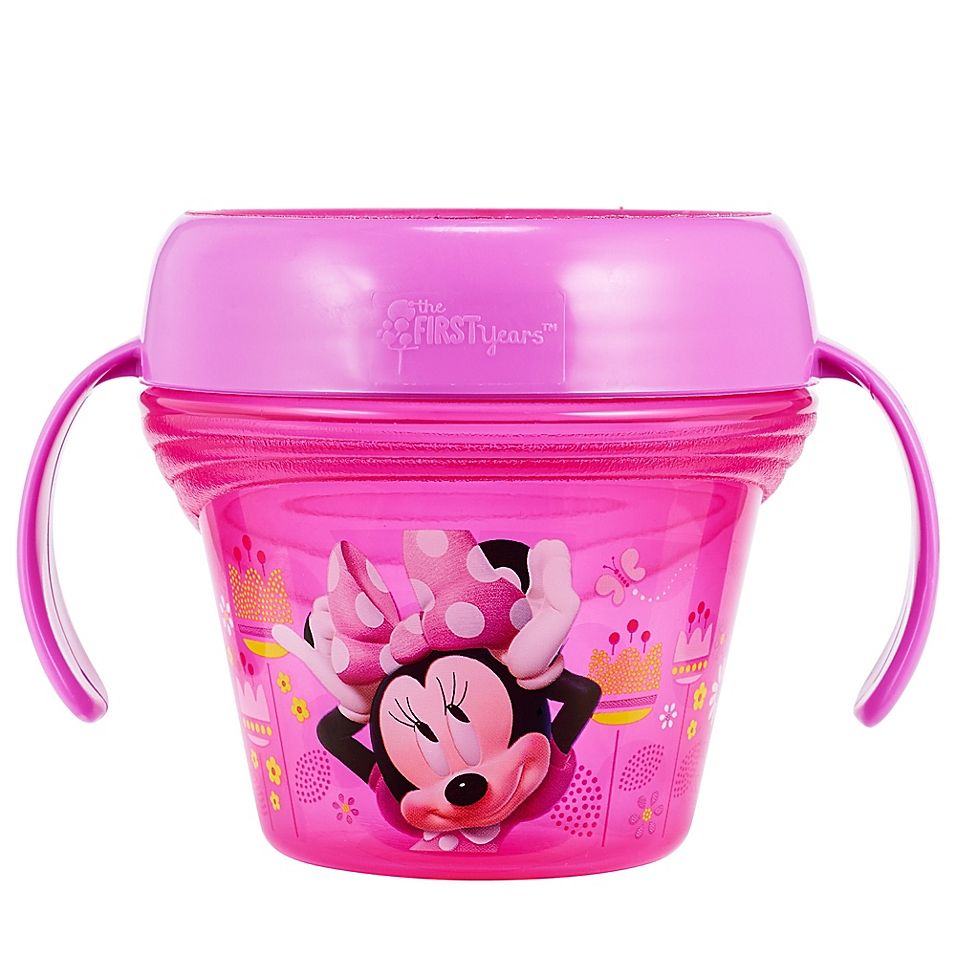 Image result for The First Years Disney Baby Minnie Mouse Spill-Proof Snack Bowl