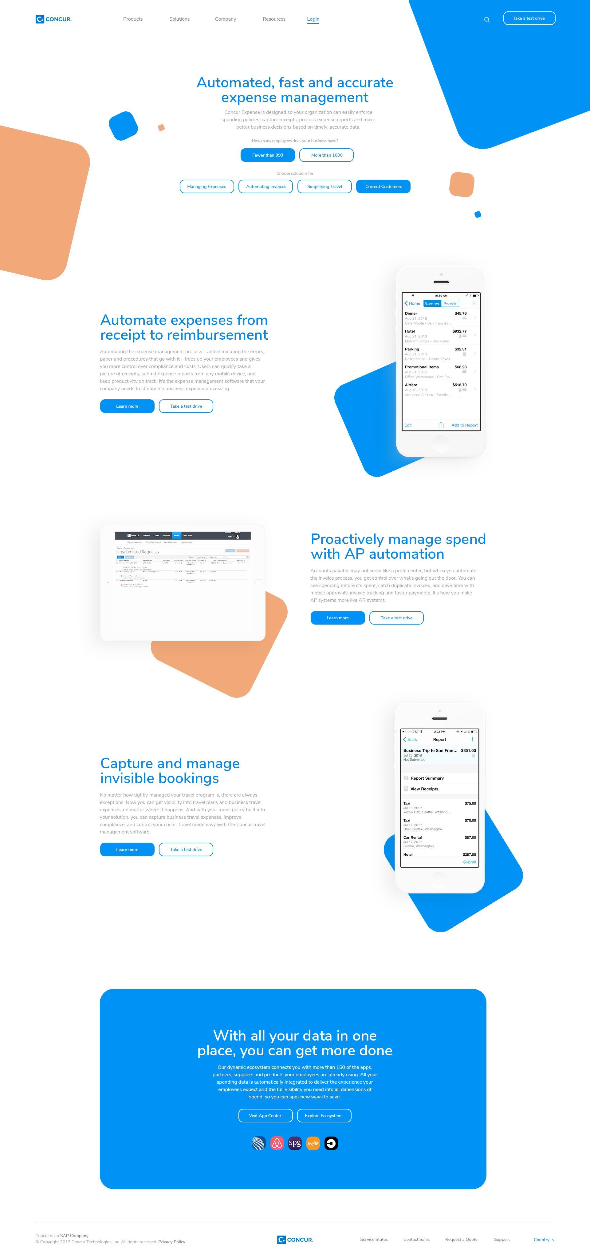 Concur Web design inspiration creative, Web app design