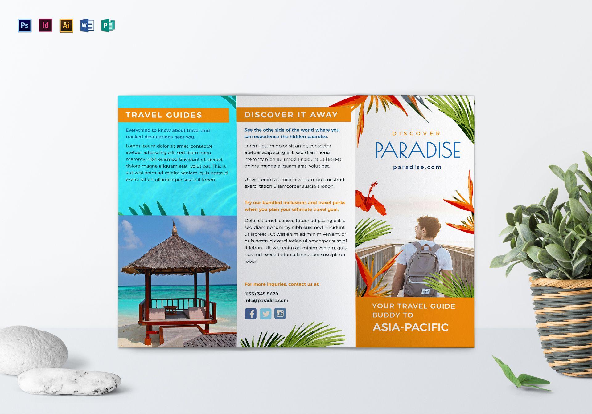 Travel Tri Fold Brochure Template Brochure Examples Brochure