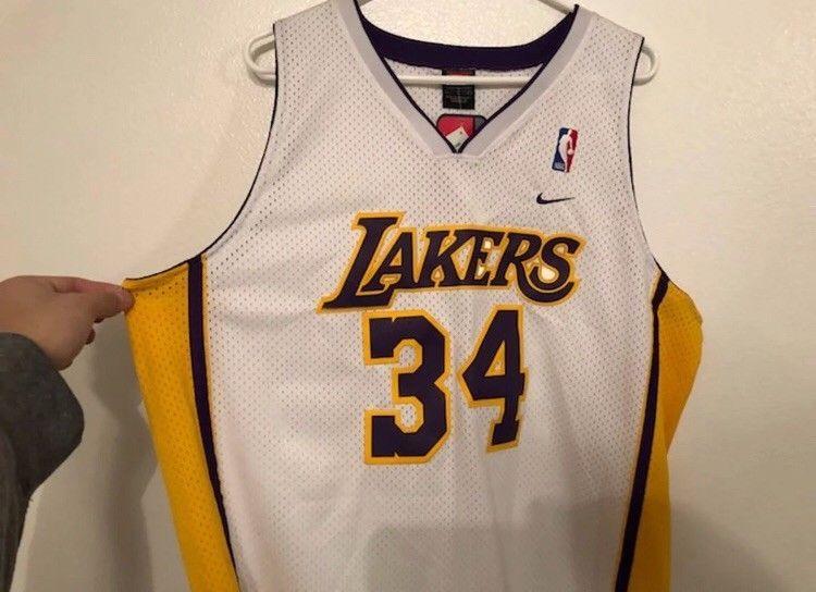 Vintage Nike Shaquille O neal Lakers Jersey  34 Size Large (eBay Link) 233dda67e