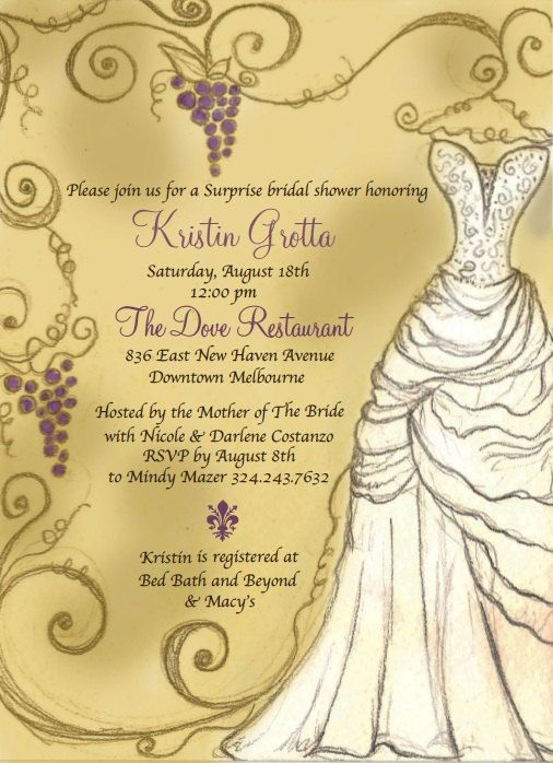 Italian shower invitation inspired by the by for Italian bridal shower invitations