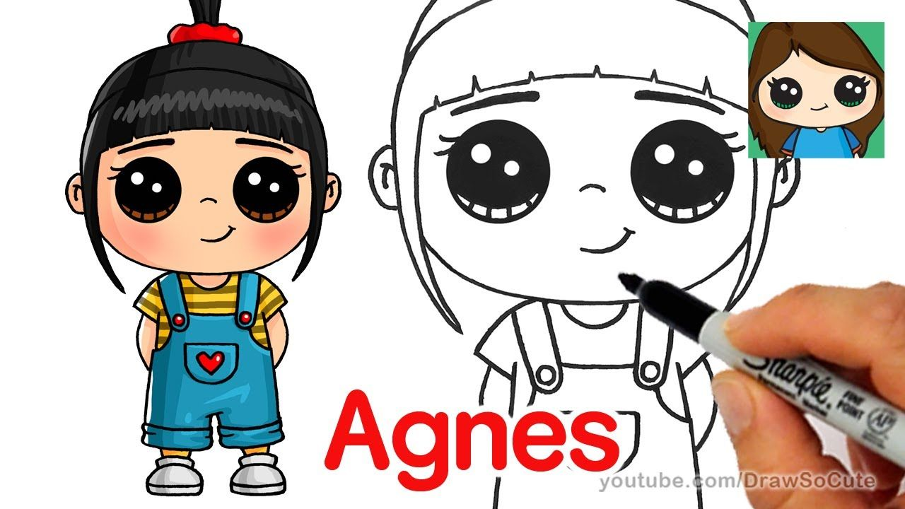 How To Draw Agnes Easy Despicable Me Cute Drawings Kawaii